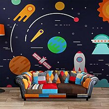 Universum Kinderzimmer Tapete Dreidimensionale