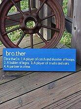 unknow Wandtafel mit Brother-Definition, für das