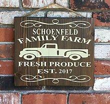 unknow Wandtafel mit Familiennamen - Bauernhof -
