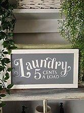 Unknow Waschraumschilder, gerahmt, Holz,