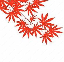 Unkraut Baum Blatt Ahorn Hanf Blätter Vinyl