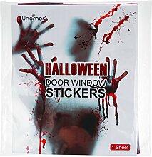 Unomor Halloween Deko Türdekoration, Horror Haus