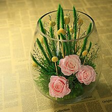 Unsterblichen Kreatives Geschenk Glas Blumenornamente/Home Desk Zubehör-A