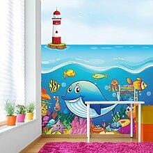 Unter dem Meer Wandbild Ozean Tiere Foto-Tapete Kinder Schlafzimmer Haus Dekor Erhältlich in 8 Größen Extraklein Digital
