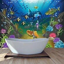Unter dem Meer Wandbild Ozeanszene Foto-Tapete Kinder Schlafzimmer Haus Dekor Erhältlich in 8 Größen Klein Digital