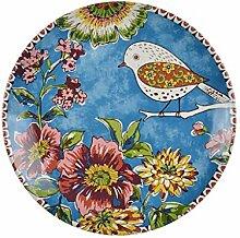 Unterglasur bemalte Keramik Geschirr innen Keramik