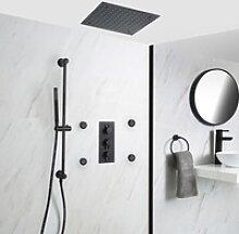Unterputz Duschsystem mit Thermostat - 400mm x