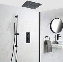 Unterputz-Duschsystem mit Thermostat - mit 400mm x