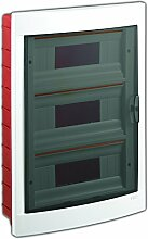 Unterputz Kleinverteiler 36 Module / Sicherungskasten / Verteilerkasten Unterputz IP40, 3-reihig mit Hutschiene + PE/N Klemmen