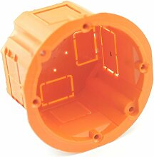 Unterputzdose Schalterdose Putzdeckel Hohlwanddose Trockenbau Signaldeckel PK-60 Hohl/Abzweigdose 60x45 10 Stück