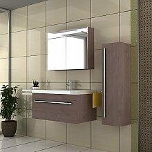 Unterschrank / Badezimmer Möbel / Waschplatz / Waschtisch / Waschbecken / Waschplatzlösung / Modell Garda-900 / Farbe: Braun