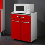 Unterschrank in Rot Küche