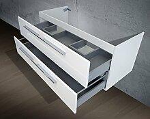 Unterschrank zu Keramag iCon Doppelwaschtisch (für 2 Abläufe) 120 cm Waschbeckenunterschrank