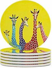 Untersetzer 4-teiliges Set Giraffe