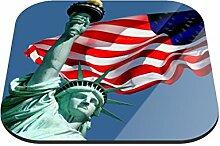 Untersetzer Amerika B x H: 10cm x 10cm - 6er Pack von Klebefieber®