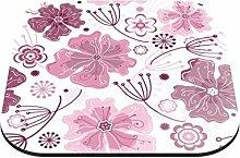 Untersetzer Blumenmuster mit pastellfarbenen Blüten B x H: 10cm x 10cm - 4er Pack von Klebefieber®