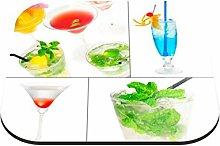 Untersetzer Cocktails B x H: 10cm x 10cm - 6er Pack von Klebefieber®