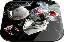Untersetzer Glücksspiel B x H: 10cm x 10cm - 4er Pack von Klebefieber®
