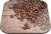 Untersetzer Kaffeebohnen B x H: 10cm x 10cm - 12er Pack von Klebefieber®