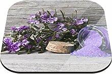 Untersetzer Lavendelzweig B x H: 10cm x 10cm - 4er Pack von Klebefieber®