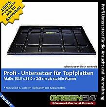 Untersetzer PRO für GREEN24 Topfplatten Anzuchtplatten Topfpaletten Pflanztopf-Paletten - Wanne wasserdich