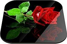 Untersetzer Rose mit Spiegelbild B x H: 10cm x 10cm - 12er Pack von Klebefieber®