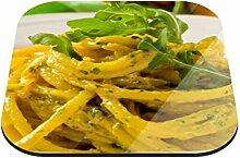 Untersetzer Spaghetti mit Rucola B x H: 10cm x 10cm - 12er Pack von Klebefieber®