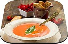 Untersetzer Tomatensuppe B x H: 10cm x 10cm - 6er Pack von Klebefieber®