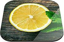 Untersetzer Zitrone mit Blättchen B x H: 10cm x 10cm - 20er Pack von Klebefieber®