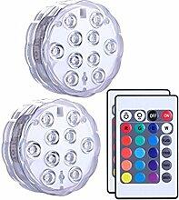 Unterwasser-Licht LED Unterwasser RGB Wasserdicht Fernbedienung Dekoration Aquarium, Teich, Hochzeiten, Halloween, Party, Weihnachten