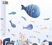 Unterwasserwelt Big Whale Wandaufkleber Cartoon