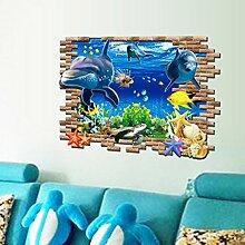 Unterwasserwelt Delfine Wand Aufkleber PVC Home