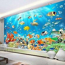 Unterwasserwelt Fischkoralle 3D Foto Wandtapete