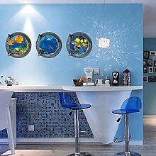 Unterwasserwelt Turtles Fische Wal Wandtattoo House Aufkleber abnehmbarer Wohnzimmer Tapete Schlafzimmer Küche Art Bild Wandmalereien Sticks PVC Fenster Tür Dekoration + 3D Frosch Auto Aufkleber Geschenk