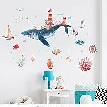 Unterwasserwelt Whale City Aquarell Baby