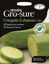 Unwins Pictorial Packet Zucchini (Libanesische) Otto F1, 8Samen