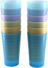 Unzerbrechliche 625 ml Becher-Set BPA-frei