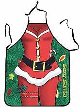 Uojack Frauen-Mann-Karikatur-Weihnachtsmann