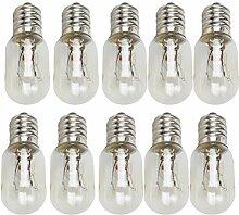 Uonlytech 10 Stück T20 E12 Edison Birne 120V 15W