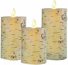 Uonlytech 3 Stücke LED Elektronische Kerzen