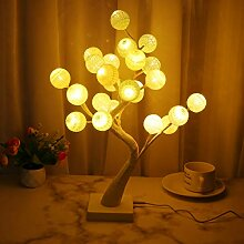 Uonlytech Cotton Ball Tree Light, Wire Cotton Ball