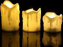 Uonlytech geführte Kerzenlichter, flammenloses