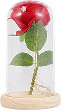 Uonlytech led rose licht, künstliche seide rose