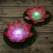 Uonlytech LED Schwimmlicht, Farbwechsel Lotus