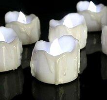 Uonlytech LED Teelicht Kerze Flammenlos Votiv