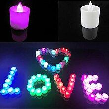 Uonlytech LED Teelichter Kerzen 7 Farbwechselnde
