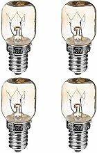 Uonlytech Mikrowellenlampe, 4 Stück, 25 W, E14,