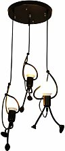 Uonlytech Vintage Kronleuchter Lampe Decke