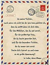 UOOYAA Personalisierte Deutsche Nachricht Decke An