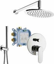UP-Dusche Set Fertigdusche Komplett Regendusche